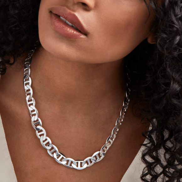 Drew Chain Necklace - Silver
