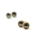 Faceted Pyrite Stud Earrings