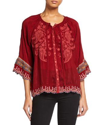 Embroidered Nasiba Blouse