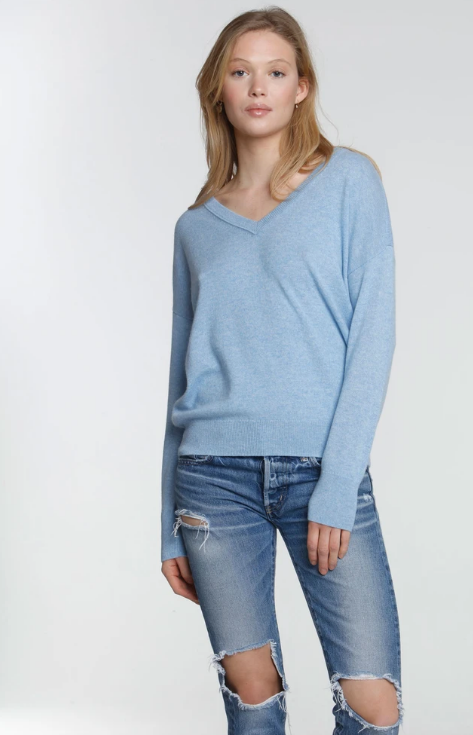 Core Cashmere Boyfriend Vee Sweater