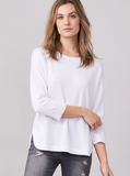 Fine Knit Cotton Sweater with Round Hem by Repeat