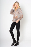 Long Sleeve Peasant Top