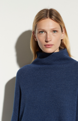 Cashmere Funnel Neck Pullover by Vince