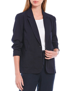 Organic Cotton Stretch Poplin Shaped Jacket