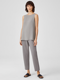 Silk Georgette Crepe Long Shell by Eileen Fisher