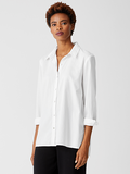 Organic Cotton Lightweight Twill Shirt by Eileen Fisher