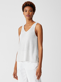 Peruvian Organic Cotton V-Neck Shell by Eileen Fisher