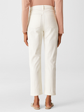Undyed Organic Cotton Stretch Straight Leg Jean by Eileen Fisher