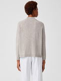 Organic Cotton Linen Slub Funnel Neck Top by Eileen Fisher