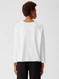 Organic Cotton French Terry Saddle Shoulder Top by Eileen Fisher