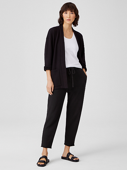 Organic Cotton French Terry Track Pant by Eileen Fisher