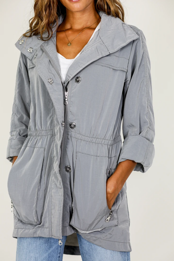 The Crinkle Nylon Anorak