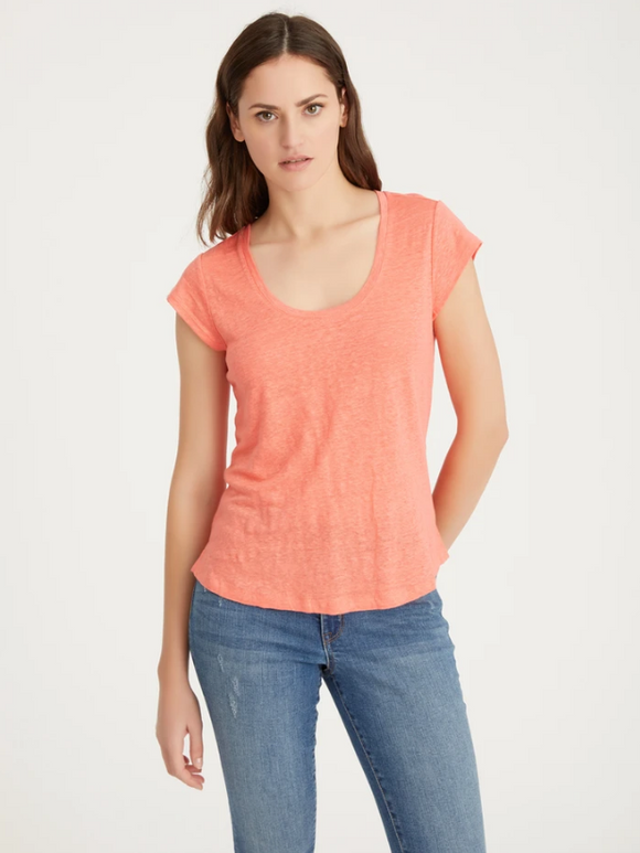 Alma Scoop Tee Sugar Coral