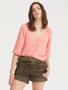 Modern Button Front Top by Sanctuary