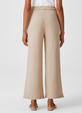 Organic Cotton French Terry Wide Leg Cropped Pant by Eileen Fisher