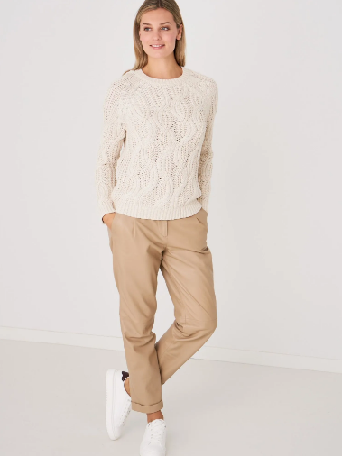 Chunky Cable Knit Crew by Repeat