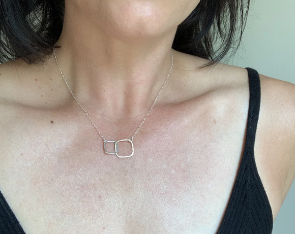 Kissing Squares Necklace by Jamison Rae