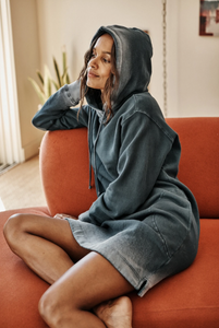 Ombre Fleece Hooded Dress by Velvet