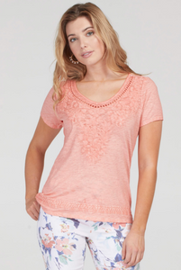 Sweetheart Embroidered Tee by Tribal