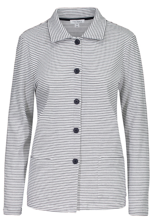 Stripe Cotton Rib Jacket by Tribal