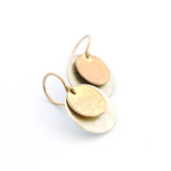 Double Disc Earrings by Jamison Rae