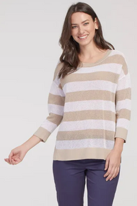 Open Stitch Cotton Sweater by Tribal