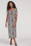 Animal Print French Terry Dress by Tribal