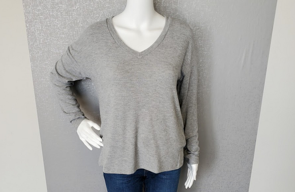 Madison Brushed V-Neck Top by Michael Stars
