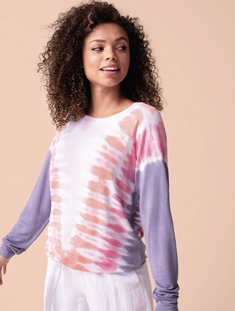 Tie Dye French Terry Sweatshirt by Tribal