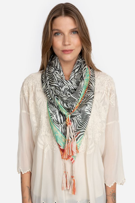 Zebra Scarf by Johnny Was