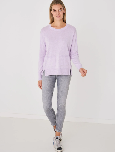 Loose Sweater with Front Pockets by Repeat