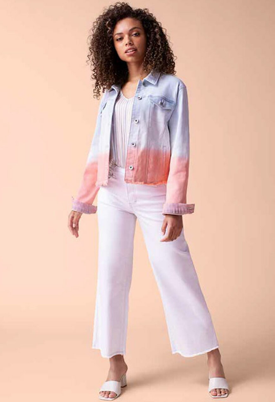 Ombre Jean Jacket by Tribal