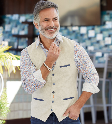 Linen Waistcoat by A Fish Named Fred