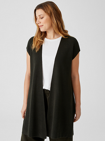 Organic Linen Cotton Long Vest by Eileen Fisher