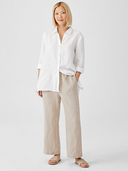 Organic Linen Straight Pant by Eileen Fisher