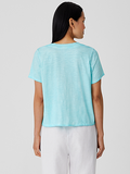 Pigment Dyed Organic Cotton V-neck Tee by Eileen Fisher