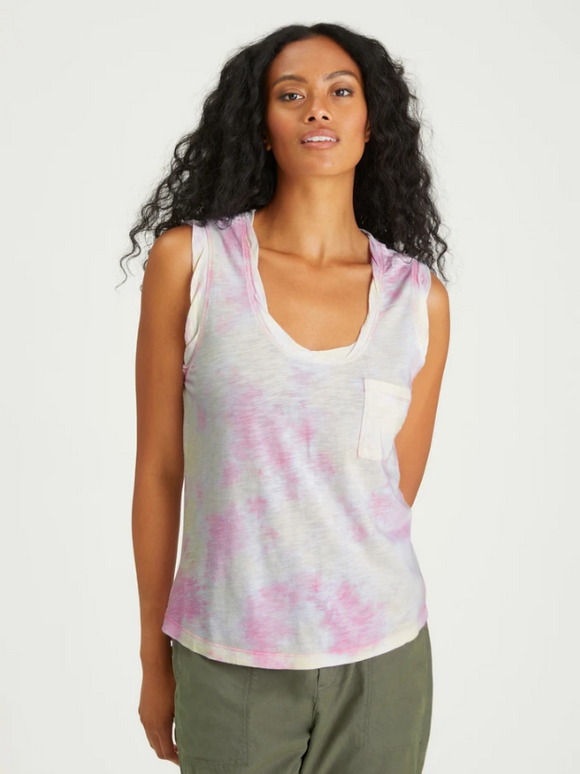 One Pocket Tank Lavender / Lime Airbrush by Sanctuary
