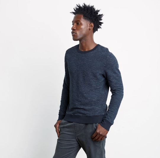 Geoffrey Washed Black Sweatshirt by Rails