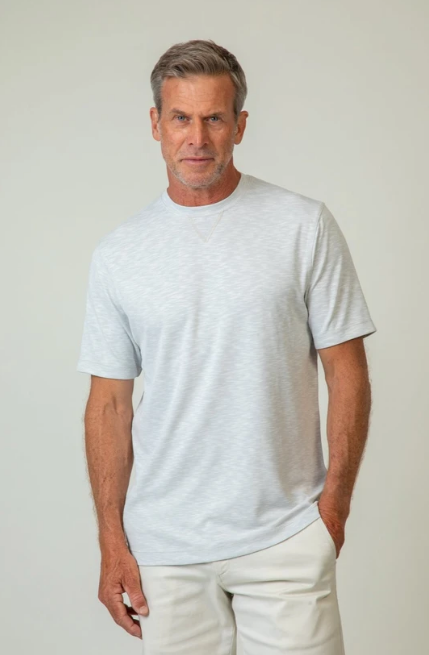 Sueded Modal Short-Sleeve Crew by True Grit