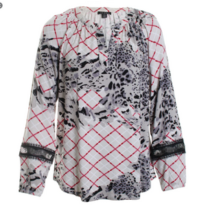 Printed Jersey Top by Tribal