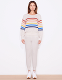 Colored Stripes Raglan Sweatshirt