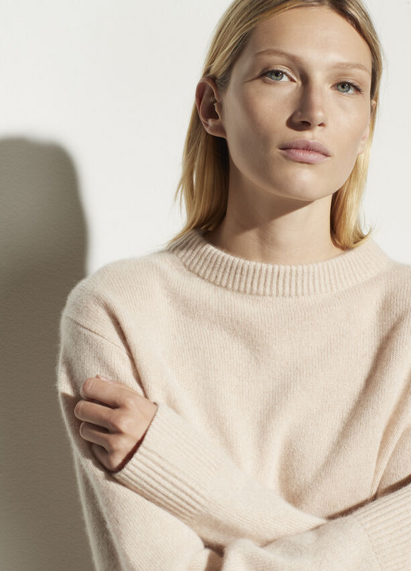 Cashmere Drop Shoulder Sweater