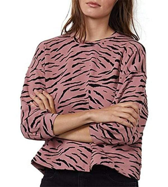 Zebra Fleece Crew by Velvet