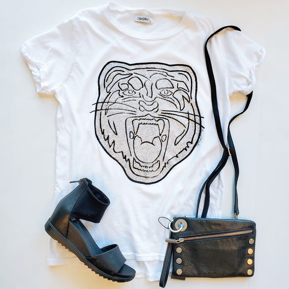 Edda Crystal Tiger Head Tee