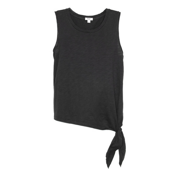 Slub Cotton Sleeveless Tie Top