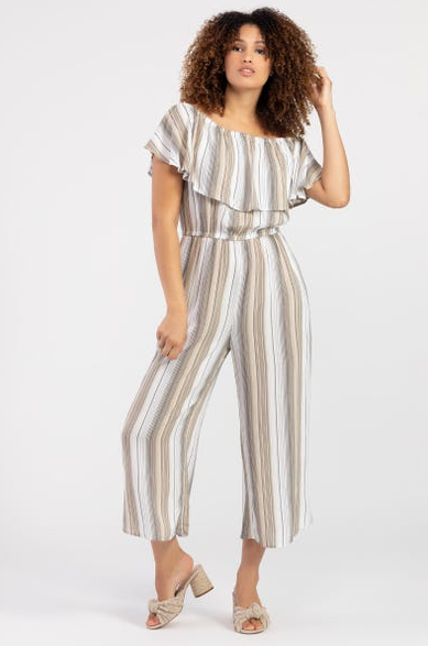 On Off Shoulder Jumpsuit