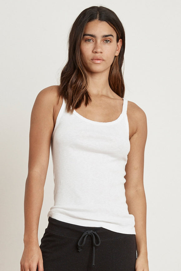 Aliza Ribbed Cotton Slub Cami