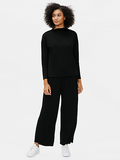 Stretch Terry Funnel Neck Box Top