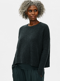 Organic Cotton Boucle Crew Neck Box Top