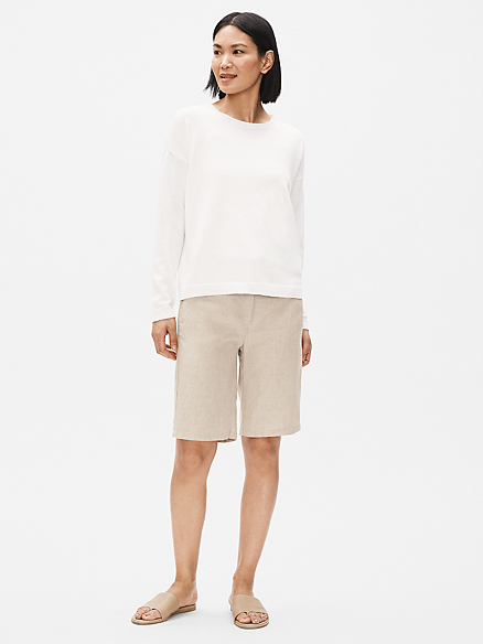 Organic Linen Walking Short by Eileen Fisher